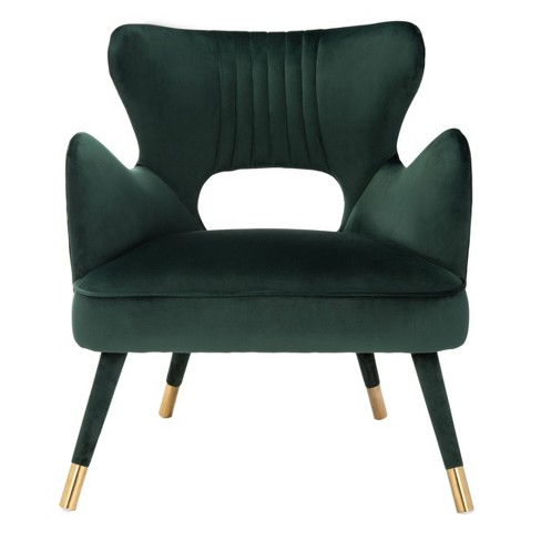 Blair Wingback Accent Chair Forest Green - Safavieh - image 1 of 4
