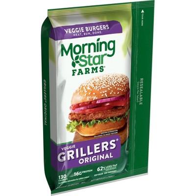 Morningstar Farms Grillers Original Veggie Burger - Frozen - 9oz/4ct
