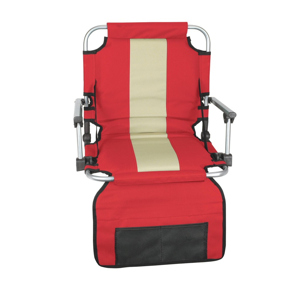 Stansport Folding Stadium Seat with Arms - Red