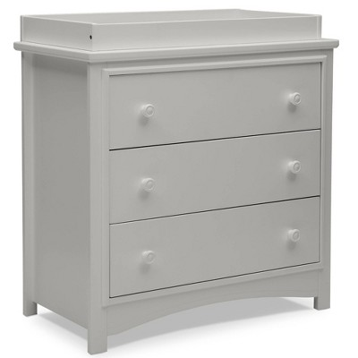 Delta Children Perry 3 Drawer Dresser with Changing Top - Moonstruck Gray