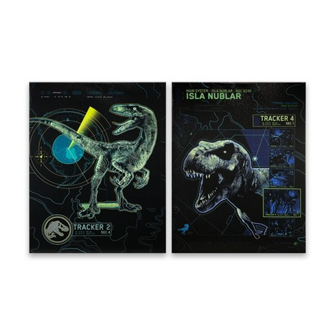 Jurassic World 2pk Tracker Wall Decor - image 1 of 3