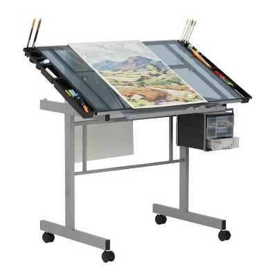 Canvas & Color Drawing Craft Station Silver/Blue Glass - Studio Designs