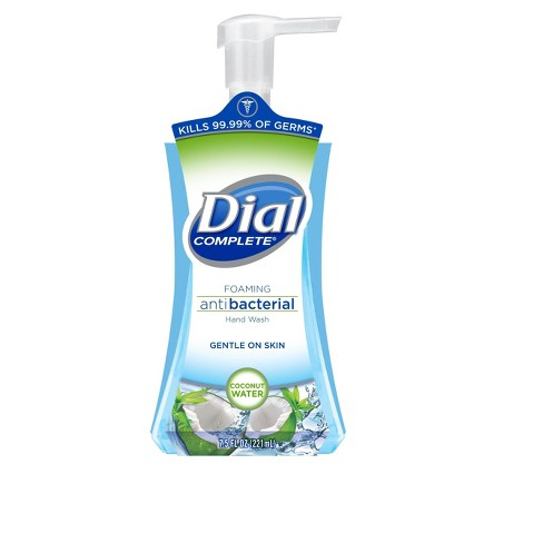 Dial Complete® Coconut Water Foaming Antibacterial Hand Wash - Clear Blue (7.5 fl oz.) - image 1 of 1