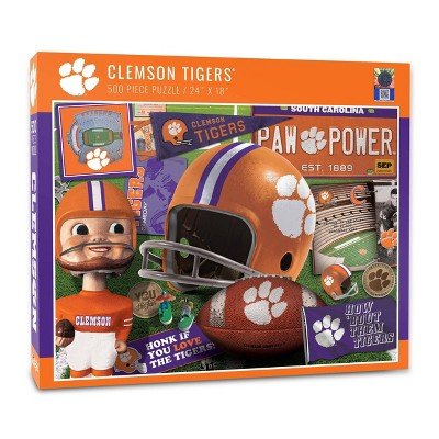 NCAA Clemson Tigers Throwback Puzzle 500pc