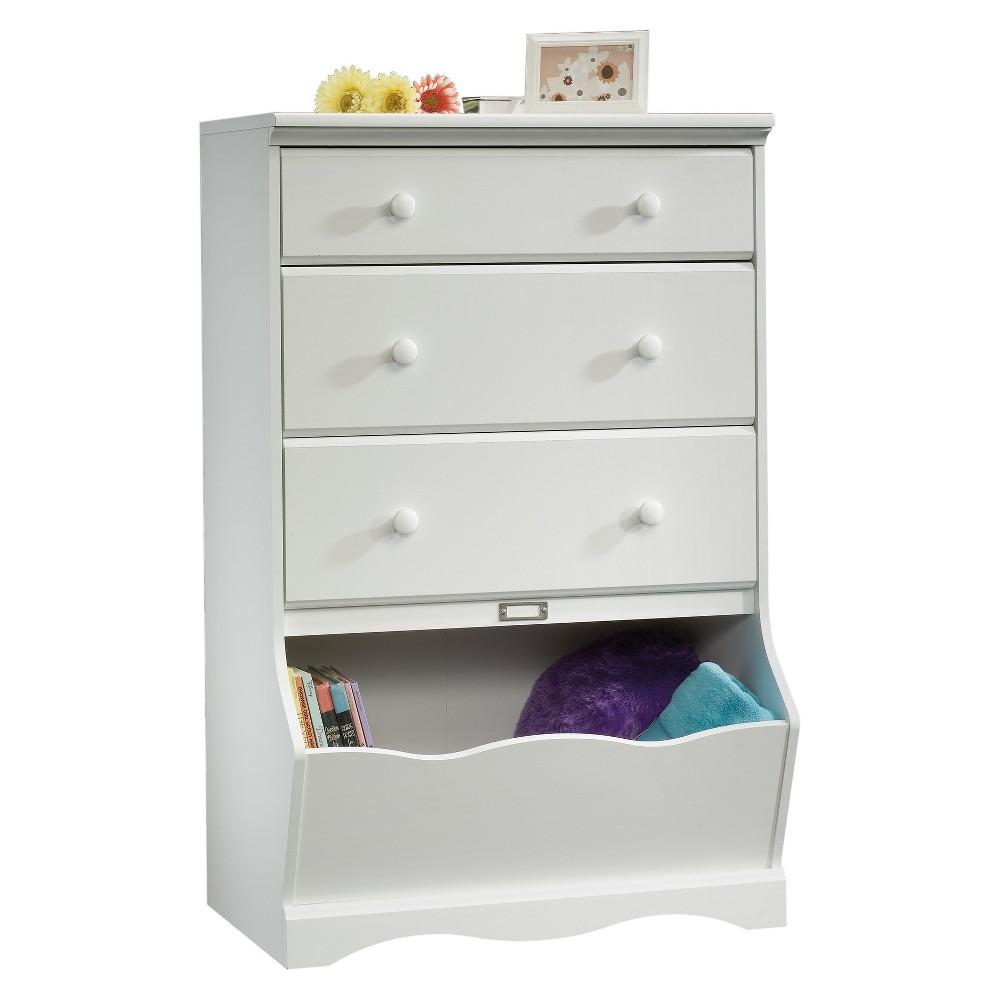Pogo 3 Drawer Chest With Storage Bin Soft White Sauder