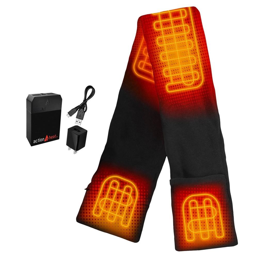 Image of ActionHeat 5V Battery Heated Fleece Scarf - Black, Adult Unisex, Size: One size