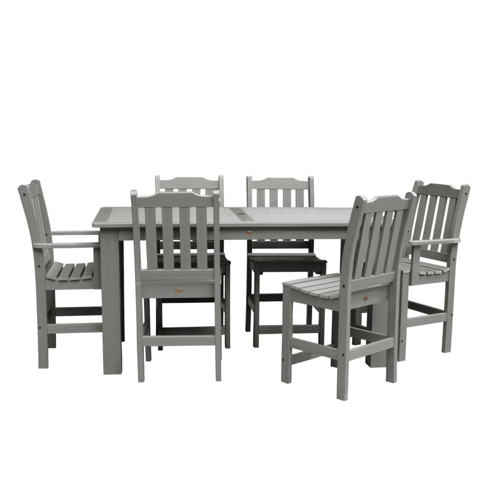 Lehigh 7pc Rectangular Counter Dining Set Coastal Teak Gray- Highwood, Coastal Teak Gray