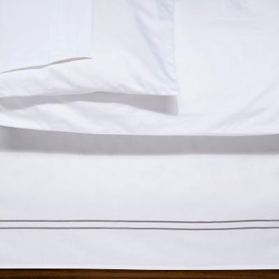 White/Cashmere Grey Hotel Bed Skirt (Queen)- Fieldcrest®