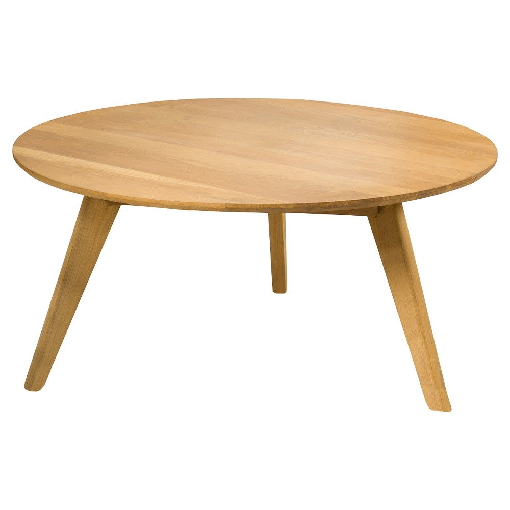 Canton Round Acacia Wood Coffee Table - Natural - Christopher Knight Home