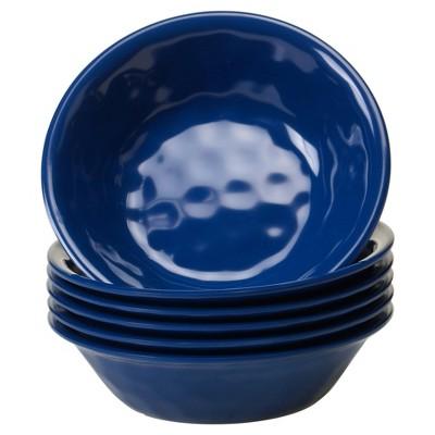 Certified International Solid Color Melamine Bowls 22oz Cobalt - Set of 6