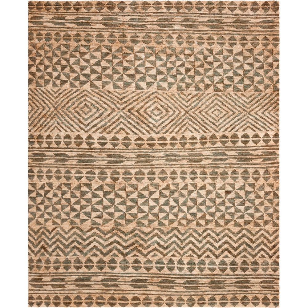 8'X10' Tribal Design Woven Area Rug Slate/Natural - Safavieh, Gray