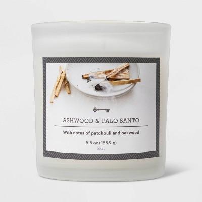 5.5oz Glass Jar Ashwood and Palo Santo Candle - Threshold™