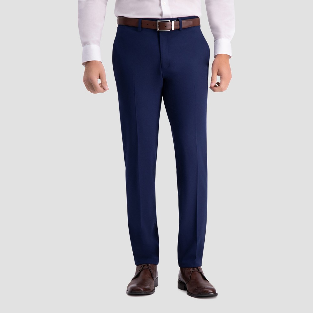 Haggar H26 Men's Slim Fit Premium Stretch Suit Pants - Bright Blue 33x30