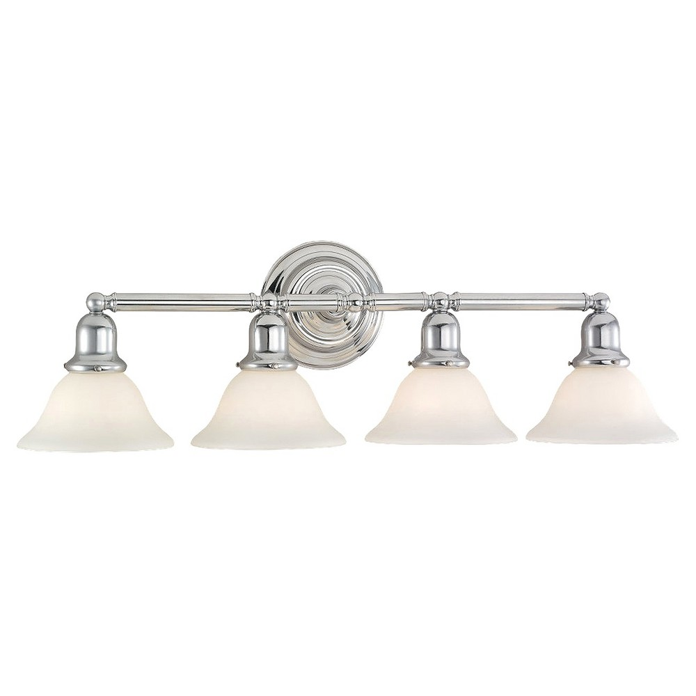 Sea Gull Lighting Four-Light Wall/Bath, White