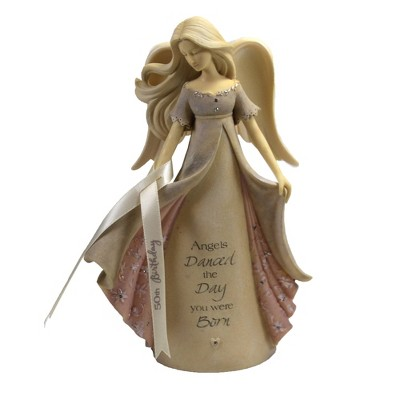 "Foundations 7.5"" 50Th Birthday Angel Dance Day Born  -  Decorative Figurines"