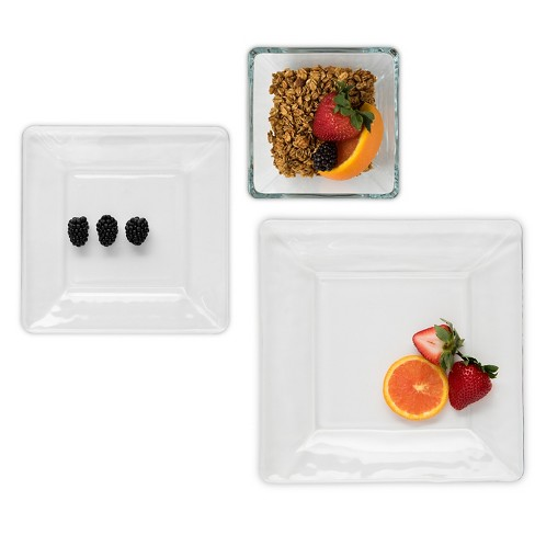Libbey Tempo Square Glass 12 Piece Dinnerware Set - image 1 of 2
