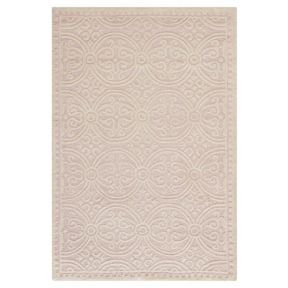 Pink/Ivory Geometric Tufted Accent Rug 3'X5' - Safavieh