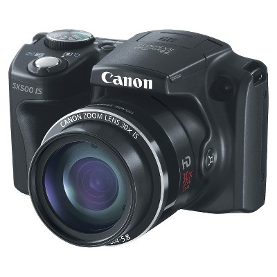 Canon PowerShot SX-500 16MP Digital Camera with 30x Optical Zoom - Black