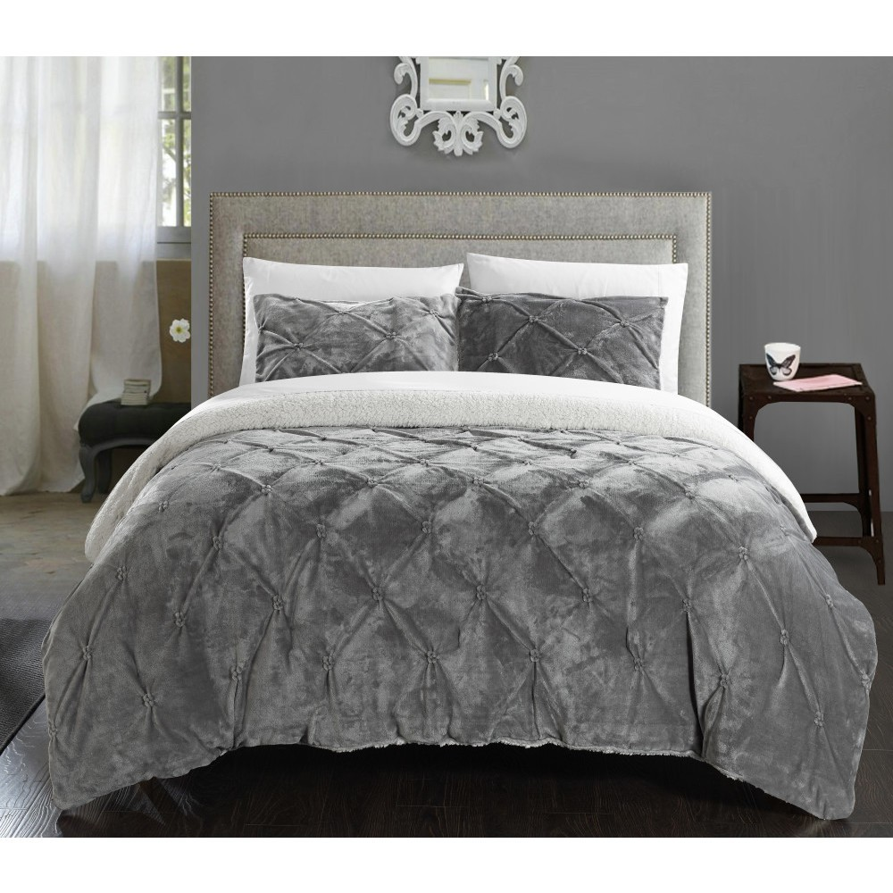7pc Queen Kaiser Bed in a Bag Comforter Set Gray - Chic Home Design
