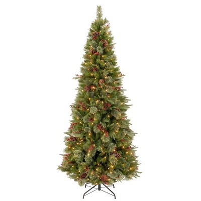 7.5ft National Christmas Tree Company Colonial Artificial Christmas Tree 300ct Clear