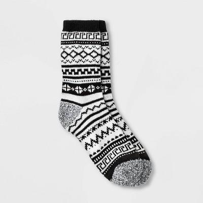 Warm Essentials by Cuddl Duds Women's Diamond Fair Isle Crew Socks - 4-10
