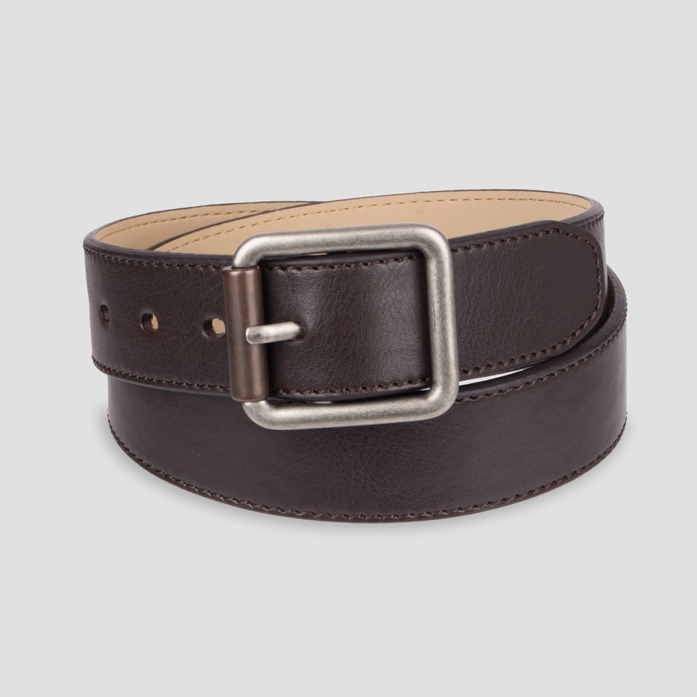 Image of DENIZEN from Levi's Men's 38mm Bevell Edge Stitch Belt - Brown XL, Men's