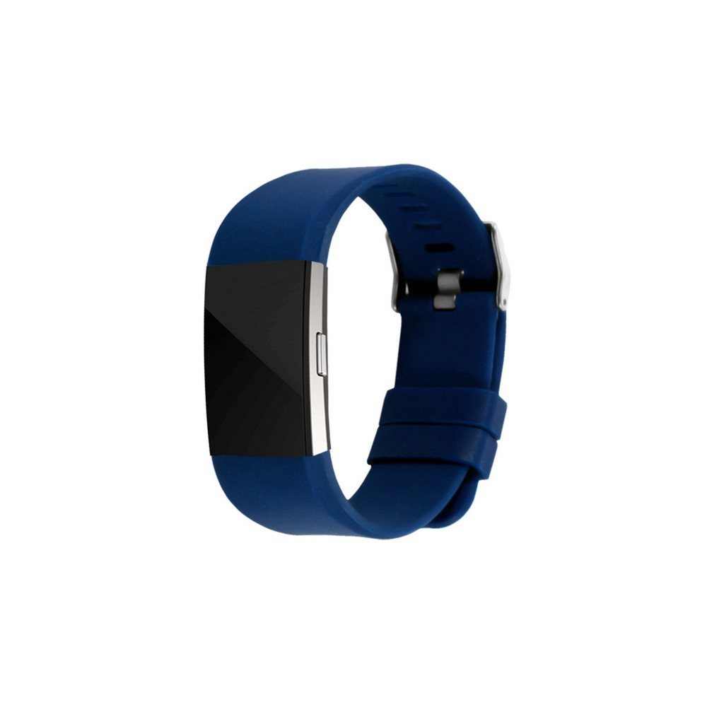 EndScene Fitbit Charge 2 Silicone Fitness Tracker Band - Navy (Blue)