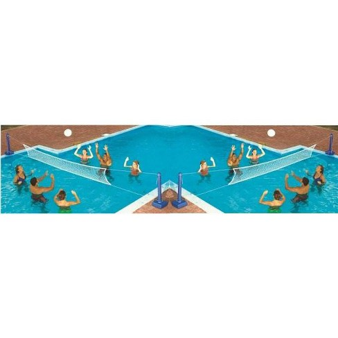2) Swimline 9186 Cross Inground Swimming Pool Fun Volleyball Net Game Water Sets - image 1 of 2