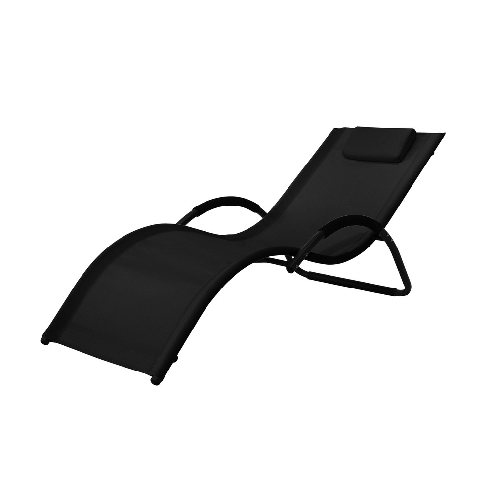 Image of Cruz Outdoor Patio Lounger Black - Relax-A-Lounger