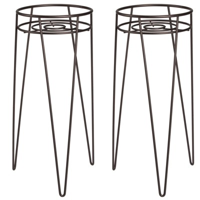 mDesign Midcentury Modern Plant, and Succulent Stand. Set of 2