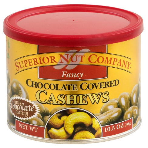 Superior Nut Fancy Chocolate Covered Cashews - 10.5 oz - 12 ct - image 1 of 1