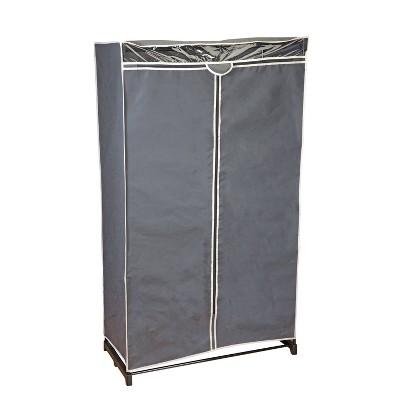 """Simplify 36"""" Wide Portable Closet Gray"""