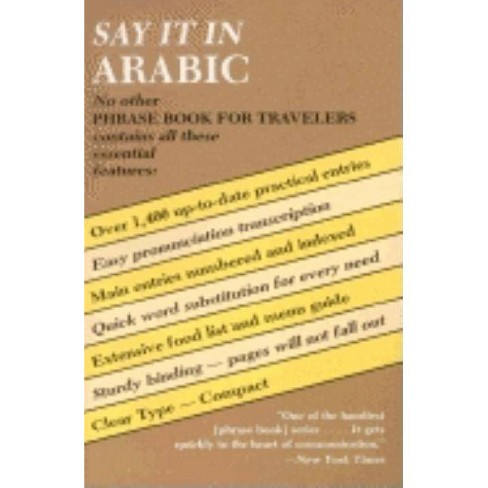 Say It in Arabic - (Dover Language Guides Say It) (Paperback) - image 1 of 1