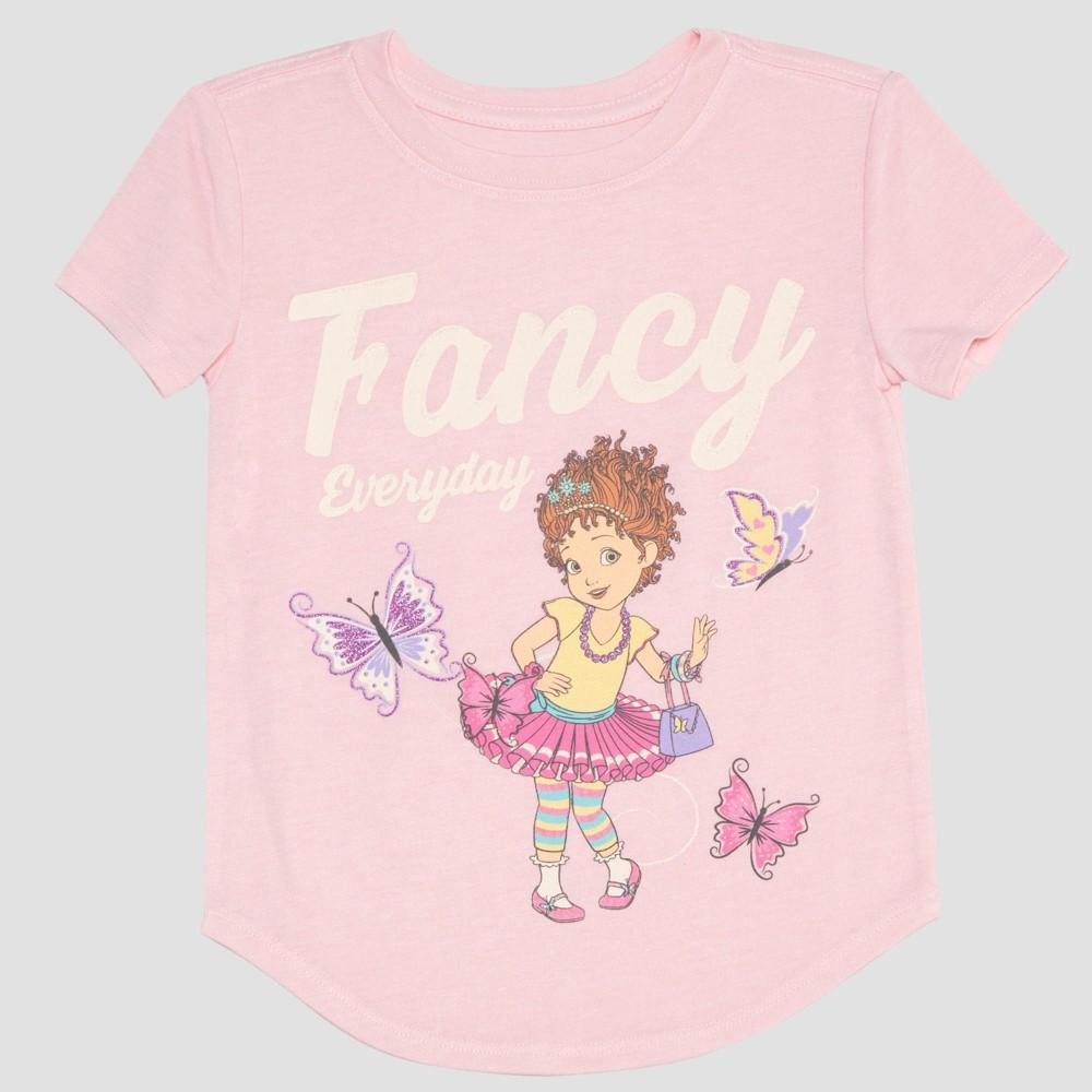 Toddler Girls' Fancy Nancy Short Sleeve T-Shirt - Pink 4T