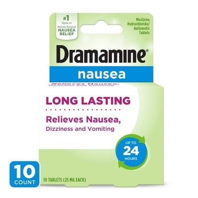 Dramamine Nausea Long Lasting Tablets - 10ct