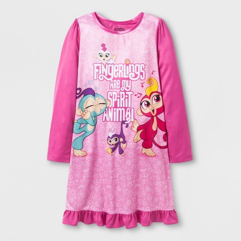 Girls' Fingerlings Dorm Nightgown - Pink 10 - image 1 of 1