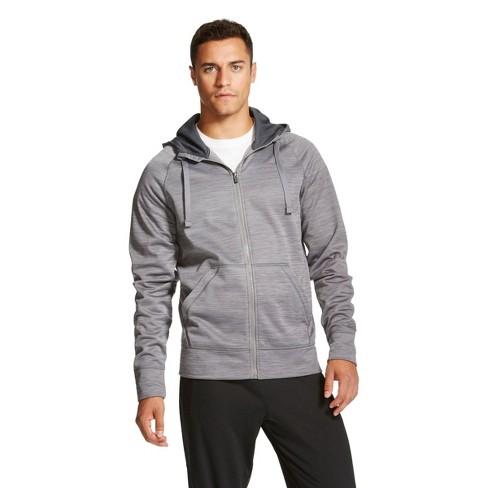 C9 Champion® - Men's Spacedye Tech Fleece Full Zip Hoodie Gray S - image 1 of 1