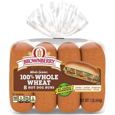 Brownberry Wheat Hot Dog Buns - 454g
