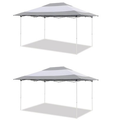 Z-Shade 14 x 10 Foot Instant Canopy Outdoor Patio Shelter, Grey & White (2 Pack)