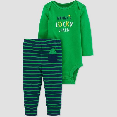 Baby Boys' 2pc Lucky Charm Top and Bottom Set - Just One You® made by carter's Green Newborn