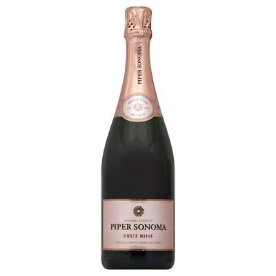 Piper Sonoma Brut Rose Sparkling Rose Wine - 750ml Bottle
