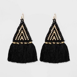Triangle Tassel and Seedbead Earrings - A New Day™