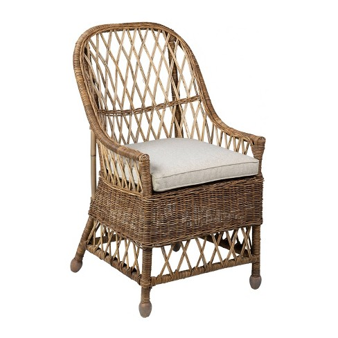 Monika Rattan Dining Chair Gray - East at Main - image 1 of 4