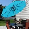 9' Aluminum Market Tilt Patio Umbrella  - Turquoise - Sunnydaze Decor - image 4 of 4