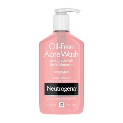 Neutrogena Oil-Free Pink Grapefruit Acne Facial Cleanser - 9.1 fl oz