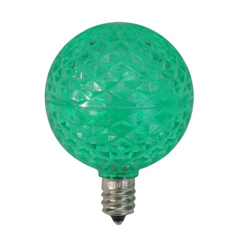 Replacement Christmas Bulbs.Vickerman Club Pack Of 25 Led G50 Green Replacement Christmas Light Bulbs E12 Base