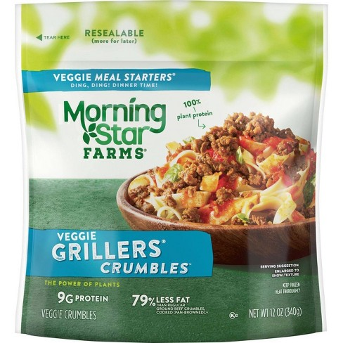 Morningstar Farms Veggie Meal Starters Grillers Frozen Crumbles - 12oz - image 1 of 4