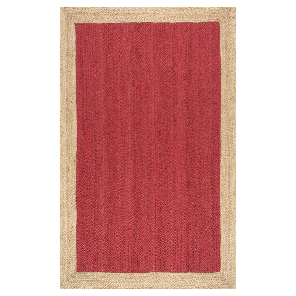 Red Solid Loomed Area Rug - (8'x10') - nuLOOM