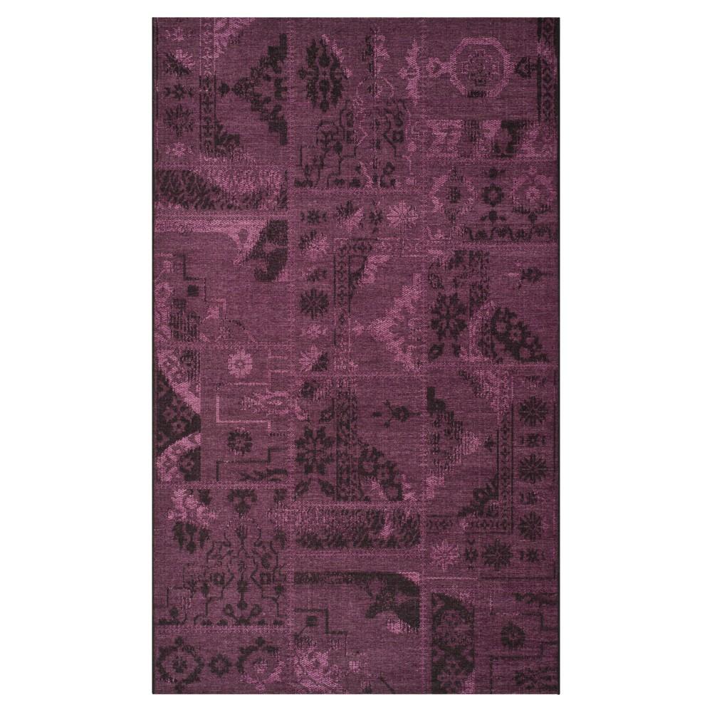 Jana Area Rug - Black / Purple (5' X 8') - Safavieh, Black/Purple