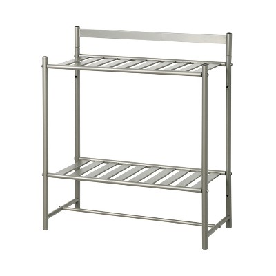 Slat Style Decorative Shelf Nickel - Zenna Home